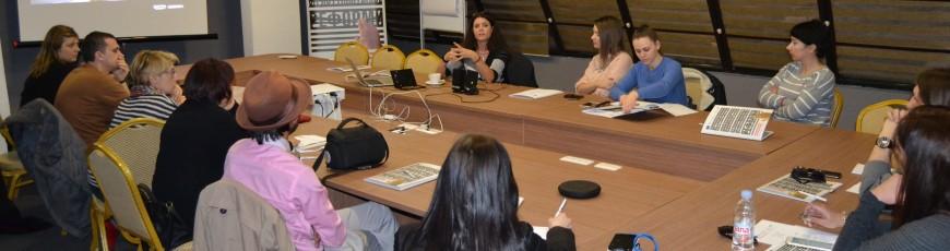 Training on TV journalism